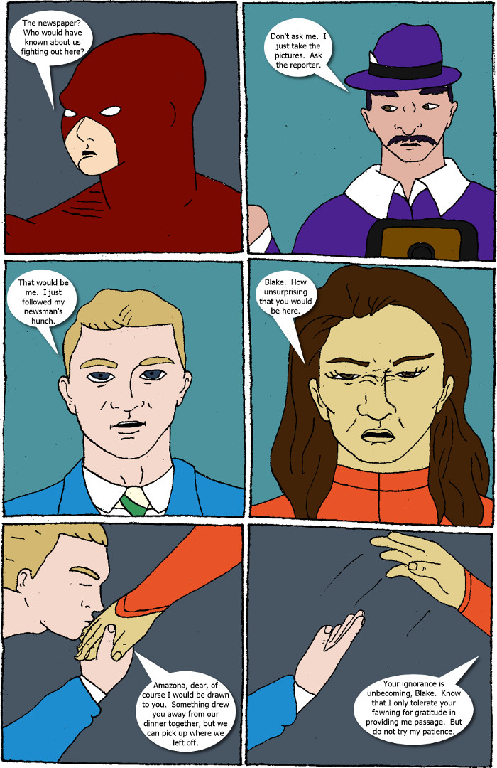 Page 6: issue 8 - Crossover Melee Part 8: Gone Public